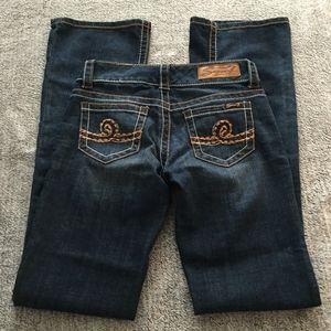 Seven 7 Low Rise Boot Cut Jeans Sz 25